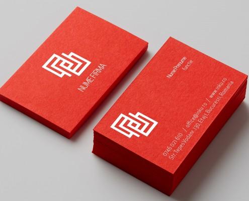 carti de vizita carton rosu financiar