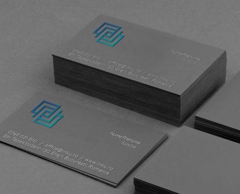 carti de vizit carton negru priint in relief
