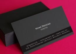 carti de vizita carton negru