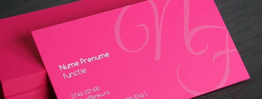 carti de vizita carton roz