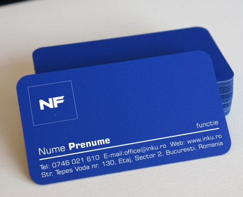 carti de vizita carton albastru