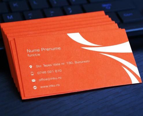 carti de vizita turism carton portocaliu