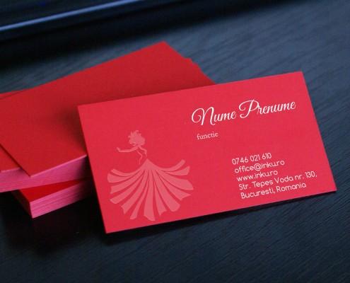 carti de vizita carton rosu
