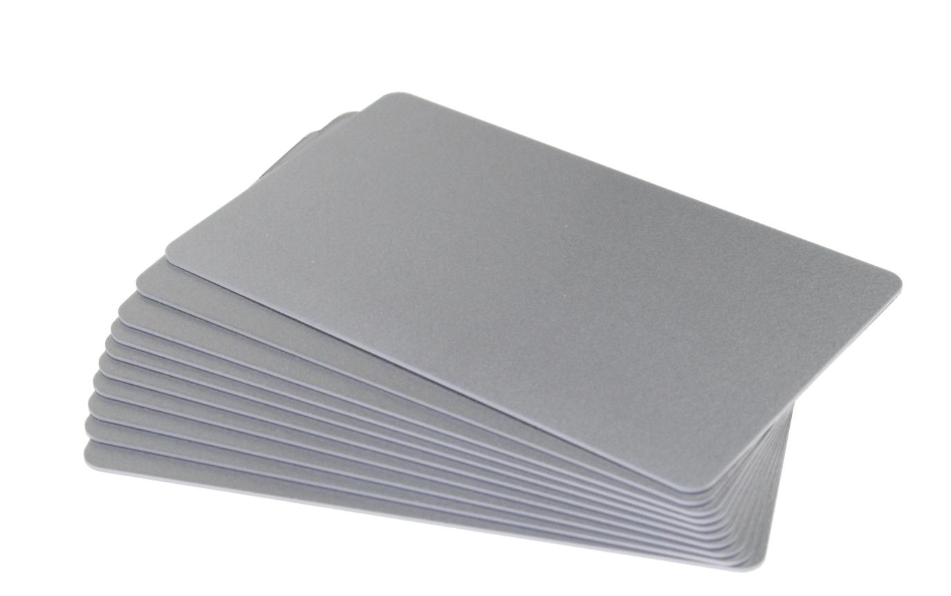 carti de vizita plastic argintiu